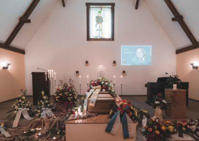 Trauerfeier mit Beamerpräsentation